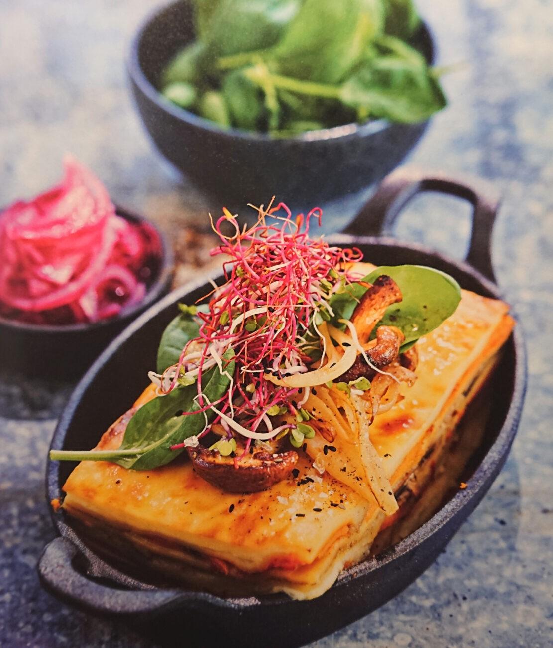 Vegetarisk lasagne med tryffelsmak